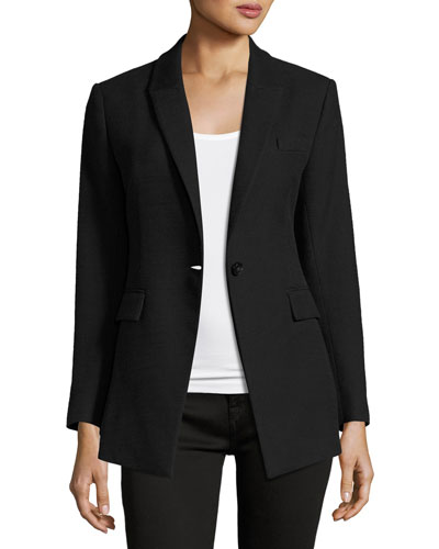 Etiennette Item Canvas Sport Jacket, Black