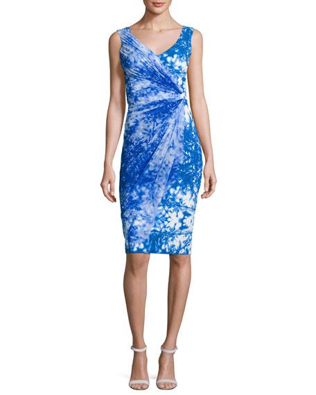 Chiara Boni La Petite Robe Naomi Printed Faux-Wrap