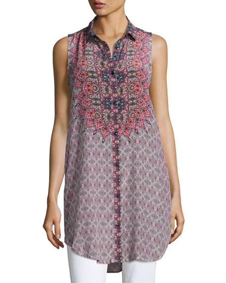 Tolani Holly Sleeveless Printed Tunic, Starburst