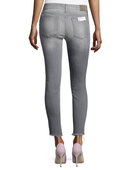 The Charlie Ankle Skinny Jeans with Raw Tulip Hem, Jasmyn