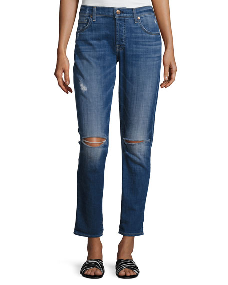 7 For All Mankind Josefina Distressed Slim Boyfriend