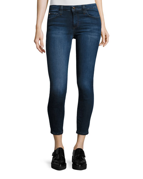 Joe's Jeans The Icon Mid-Rise Cropped Skinny Jeans,