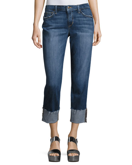 Joe's Jeans The Smith Mid-Rise Cropped Straight-Leg Jeans,
