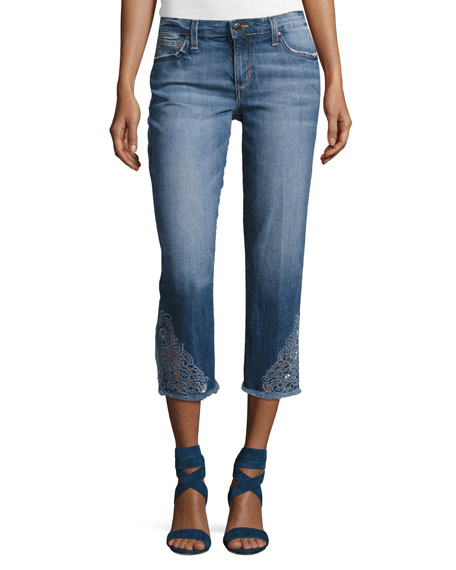 Joe's Jeans The Smith Mid-Rise Cropped Straight Jeans