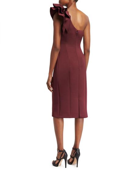 One-Shoulder Bow Cocktail Dress