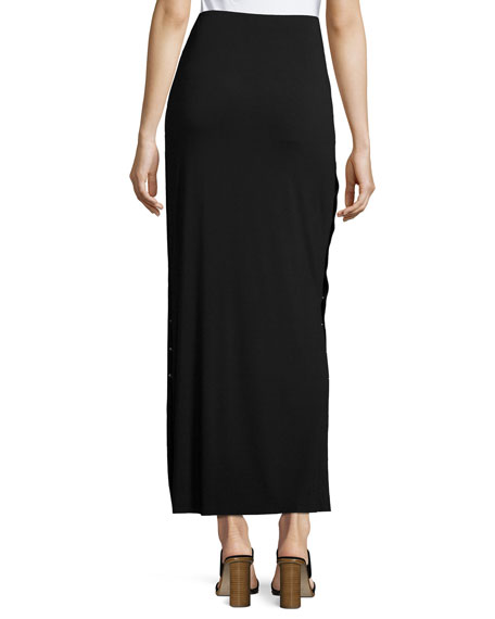 bailey 44 cain splice side snap maxi skirt black