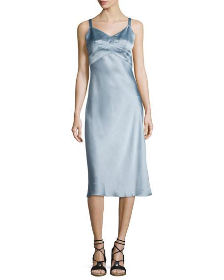 Rag & Bone Kaplan Satin Slip Dress, Light