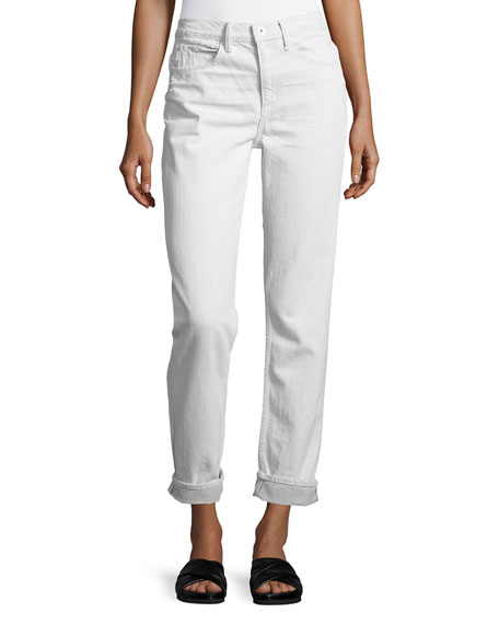 Helmut Lang Mid-Rise Relaxed Jeans, White