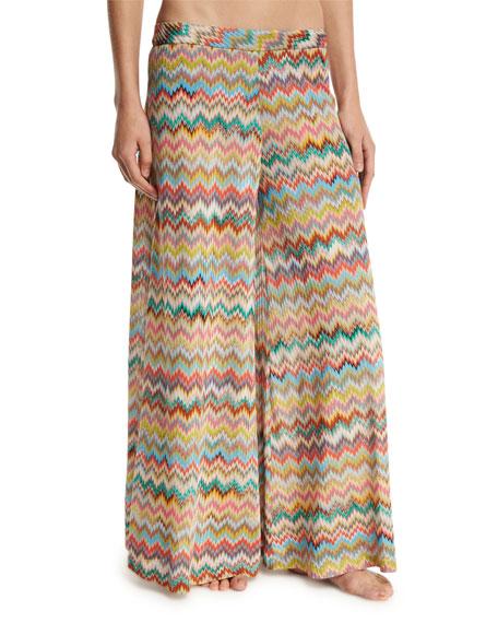 Missoni Mare Zigzag Palazzo Coverup Pants, Multicolor