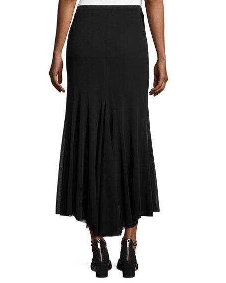 A-Line Tulle Maxi Skirt, Black