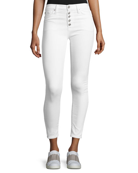 Hudson Ciara High-Rise Super Skinny Ankle Jeans, White