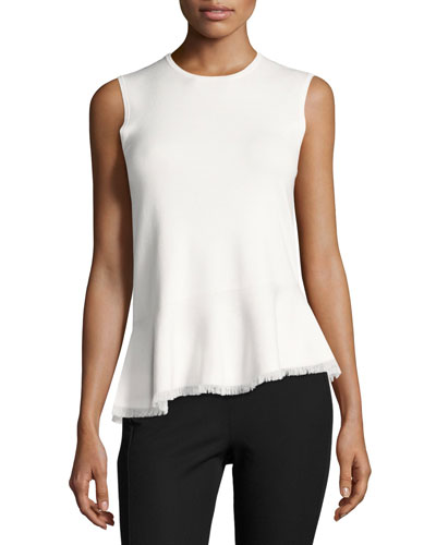Briselle Sleeveless Peplum Top, Eggshell