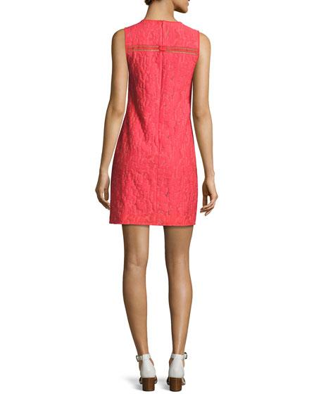 Lenus Sleeveless Leopard Jacquard Minidress, Pink