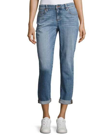 Eileen Fisher Stretch Boyfriend Jeans, Sky Blue and