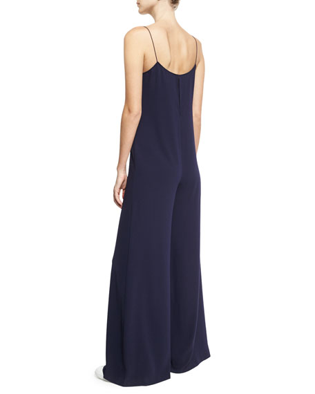 Binx Elevate Crepe Sleeveless Scoop-Neck Jumpsuit, Blue