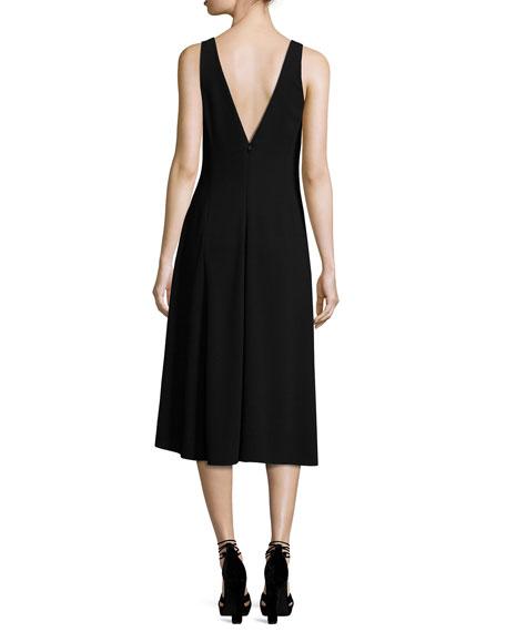 Tadayon B Elevate Crepe Sleeveless Cocktail Dress, Black