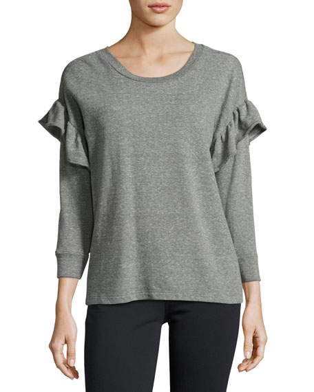The Ruffle Sweatshirt, Gray