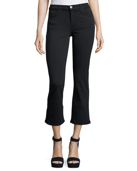 Current/Elliott The Kick Mid-Rise Stretch-Denim Jeans, Tar