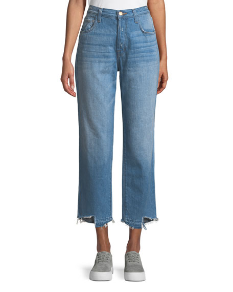 J Brand Ivy High-Rise Straight Leg Denim Jeans,