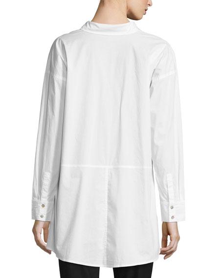 Eileen fisher organic cotton lawn oversized shirt for Eileen fisher organic cotton t shirt