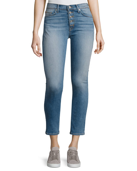 Hudson Ciara High-Rise Super Skinny Ankle Jeans, Reality
