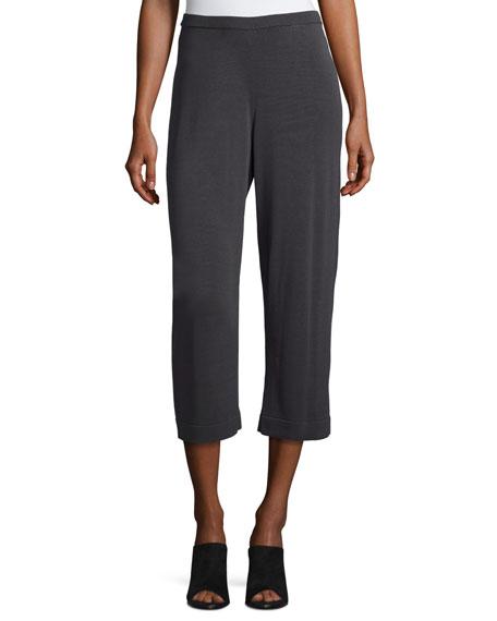 Eileen Fisher Sleek Tencel® Wide-Leg Cropped Pants, Graphite