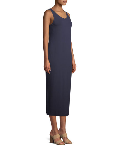 Plus Size Jersey Scoop-Neck Midi Dress