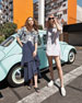 Martina Asymmetric Ruffle High-Low Maxi Skirt, Blue
