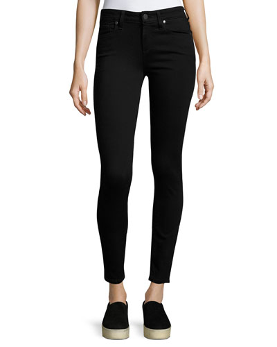 Verdugo Ankle Skinny Jeans, Black Shadow