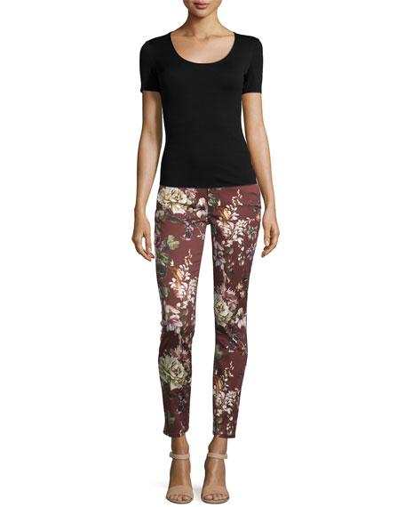 Nottingham Floral-Print Skinny Jeans, Red Multi