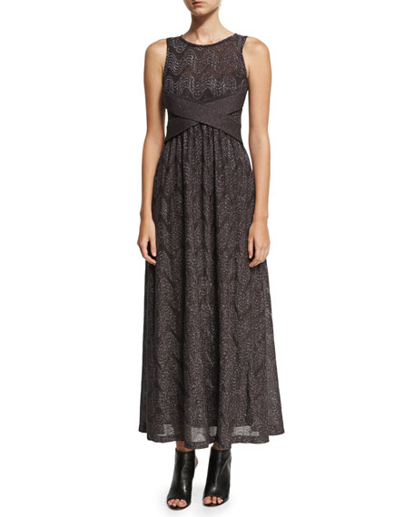 M Missoni Sleeveless Lurex® Jersey Maxi Dress