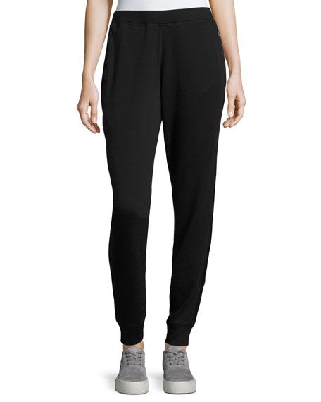 Elie Tahari Carmen Knit Jogger Pants, Black