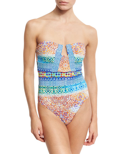 Tanzania Tile Seductress One-Piece Swimsuit, Multicolor