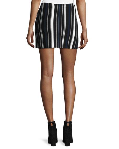 Striped Sport Skirt, Black