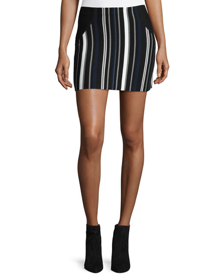 Striped Sport Skirt, Black