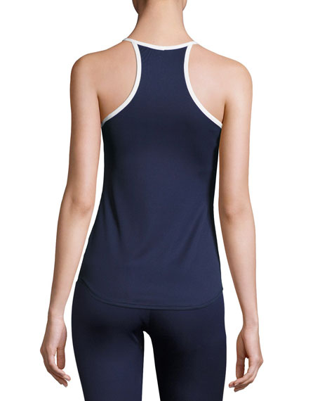 Performance High-Neck Tank Top, Ink
