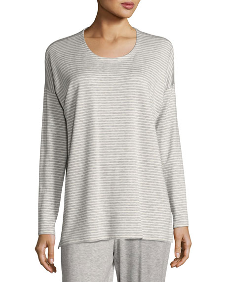 Eileen Fisher Striped Terry Box Top