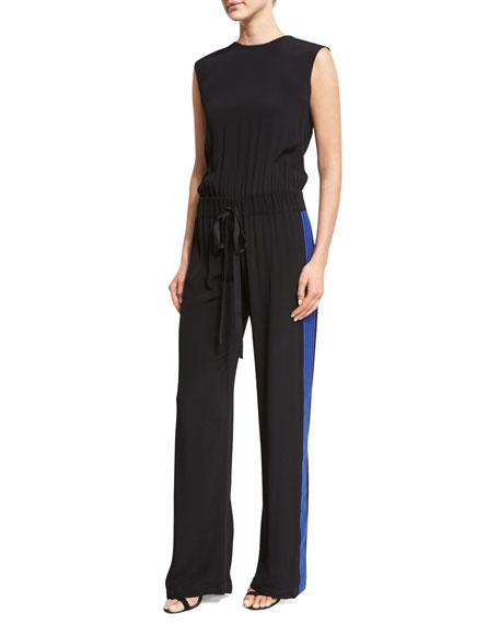Alexis Karolin Sleeveless Athletic Jumpsuit, Black