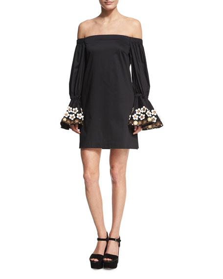 Alexis Leandra Off-the-Shoulder Mini Dress, Black