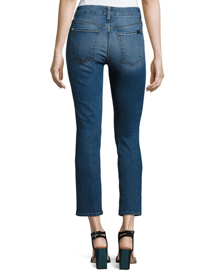 Crop and Roll Straight-Leg Jeans