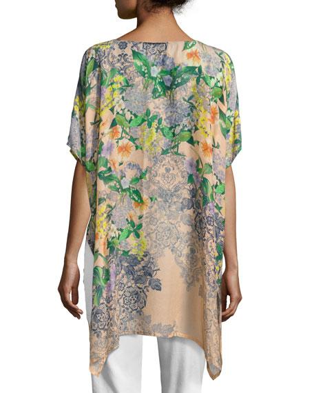 Kiltic Floral-Print Tunic, Plus Size