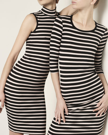 3/4-Sleeve Striped Jersey Top