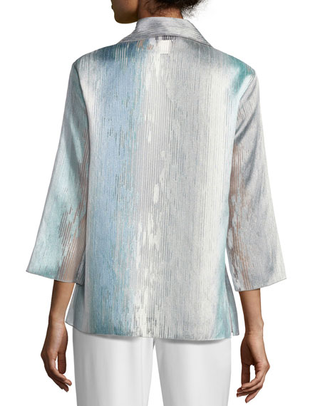 Organza Ombre Easy Shirt, Plus Size