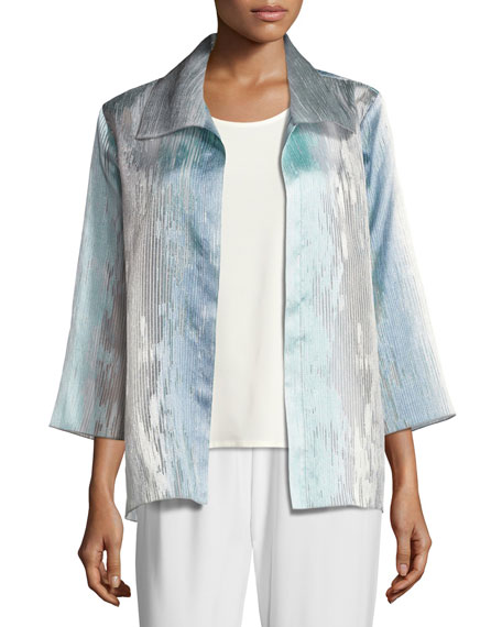 Caroline Rose Organza Ombre Easy Shirt, Petite and