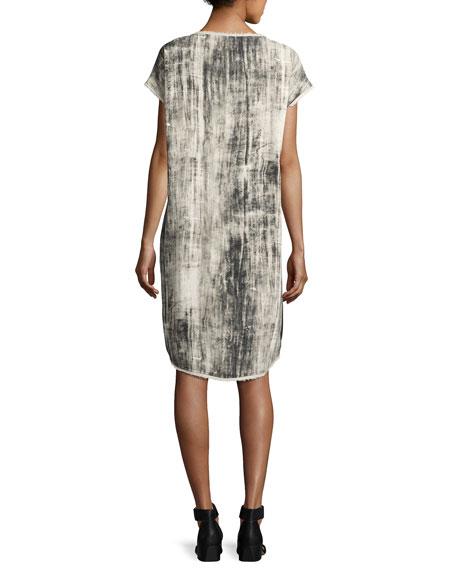 Go Raw Printed Dress, Bamboo Stripe
