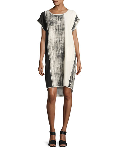 Go Raw Printed Dress, Bamboo Stripe