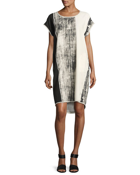 Go by Go Silk Go Raw Printed Dress,