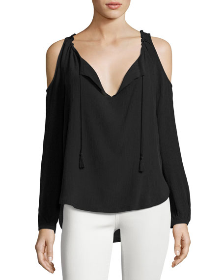 Go Baby It's Cold Outside Cold-Shoulder Top