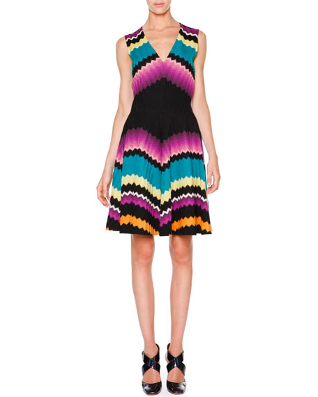 Missoni Sleeveless Fit-&-Flare Zigzag Dress