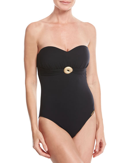 Lise Charmel Casting Beaute Bandeau One-Piece Swimsuit, Black